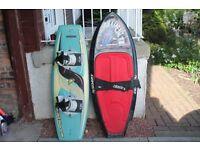 wake board and knee board