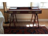 Campaign Desk with matching Leather and Rosewood Desk Chair