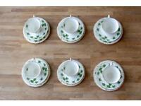 """Colclough """"Ivy leaf"""" tea set"""