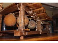8 key hand carved Zimbabwe Balafon twined with goatskin (wooden xylophone)