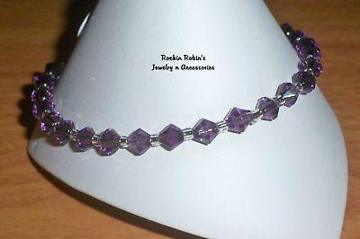 """Violet Stretch Anklet Ankle Bracelet - 10"""""""