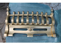 Cast brass firegrate/grill with ash pan cover