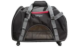 New Bergan Wheeled Comfort Carrier-Black and Grey, Large