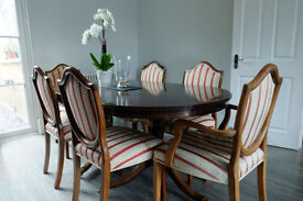 Reproduction Dining Table with 8 chairs