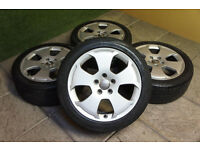 "Genuine Audi A3 8P 17"" Alloy wheels & Tyres 5x112 A4 VW Passat Golf T4 Caddy S Line"