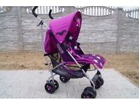 Mamas and papas swirl pushchair stroller purple includes cosytoes and rainco