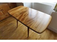 Renovated Retro Vintage Ercol Model 383 Drop Leaf / Extending Dining Table