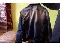 Jack & Jones Denim Jacket with Fur Collar