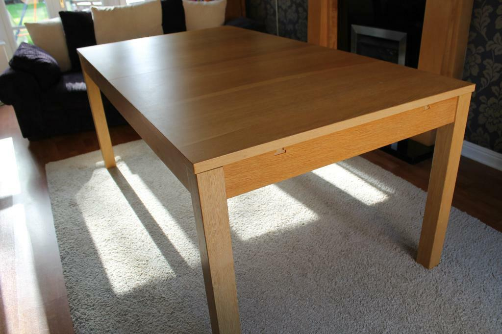 Ikea Bjursta Extendable Dining Table In Oak Veneer United Kingdom