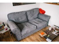 Fabric Sofa Bed - Charcoal Excellent Condition