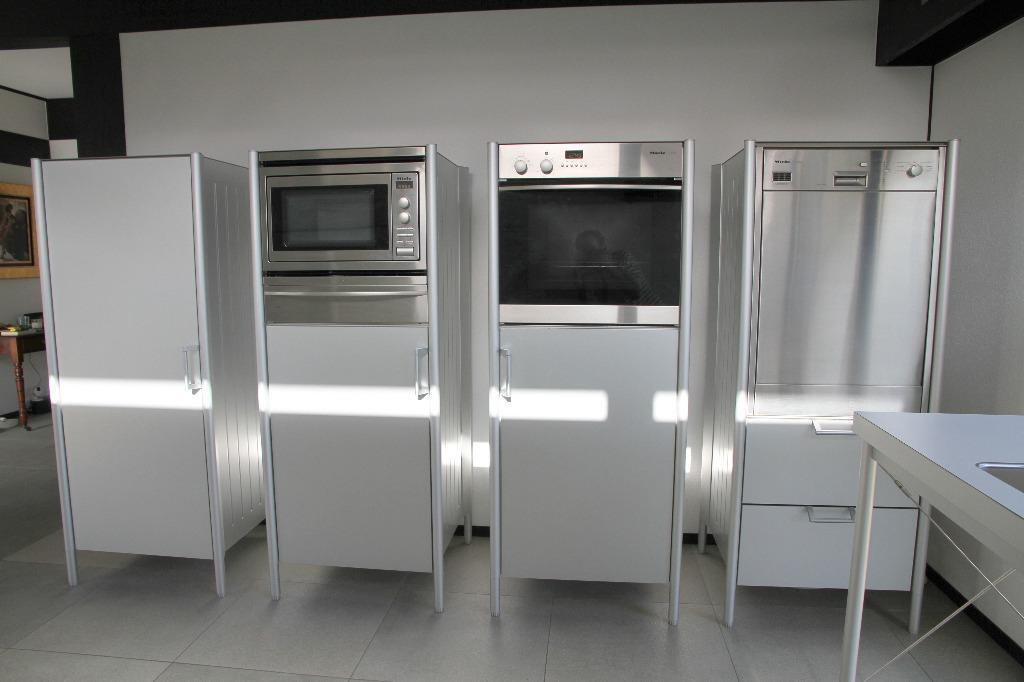 Bulthaup system 20 kitchen appliance cabinets with miele for 50cm deep kitchen units