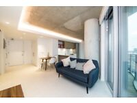 DESIGNER FURNISHED 1 BEDROOM WITH PRIVATE BALCONY,WOOD FLOORS IN HOOLA, EAST TOWER, ROYAL DOCKS