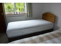 new bed, mattress, headboard, bought 2014. never used. collective cost £865, receipts available.