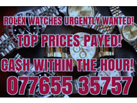 ROLEX WATCHES WANTED, CASH WAITING