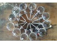 12 crystal ball knobs for chest of drawers