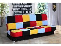"New click-clack sofa bed ""Amelia"" with storage"