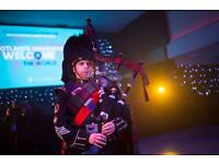 Hire a Highland Piper/Bagpiper for Weddings, Parties, Burns' Suppers, Corporate Events or Reunions.