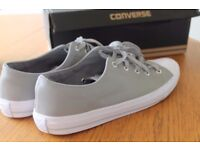 Genuine women leather Converse sneakers