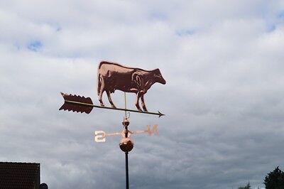 Wetterhahn Wetterfahne Kuh aus Kupfer NEU