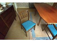 Six Retro Vintage Mid-Century Dining Chairs
