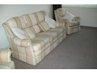 3 seater settee + 2 chairs, Bridgecraft, 3 + 1 + 1, Traditional 3 piece suite