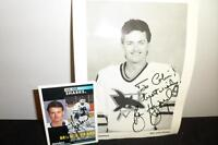 Brian Hayward Lot - Signed hockey card & Photo