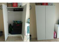 GOOD CHANSE TO BUY TWO DOOR WARDROBE,WHITE ,GOOD CONDITION!!