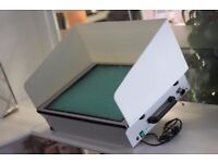 Spray booth/ glue booth desktop + spare filter RRP£384