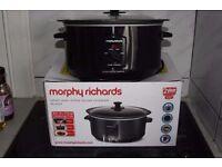 Morphy Richards Oval Slow Cooker, 6.5 L black slowcooker crock-pot