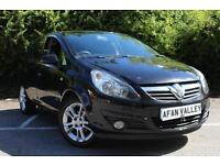 VAUXHALL CORSA 1.2i 16V SXi 5dr [AC] **NEW MOT AND SERVICE INCLUDED** (black) 2009