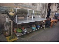 stainless steel tables/work benches