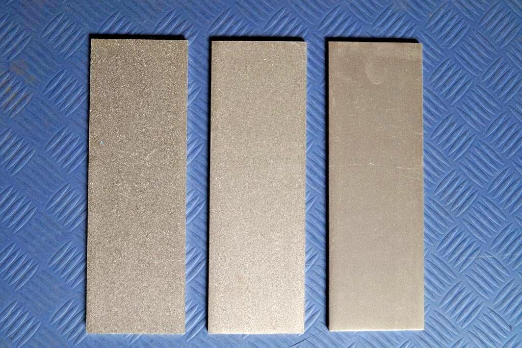 3 x Diamant Abziehstein grob fein extra fein 150 x 50 mm Wetzstein Schleifstein