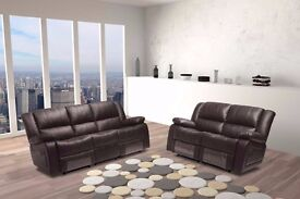 SALE NOW - RECLINER ORIGINAL BONDED LEATHER 3+2 SEATER SOFA SET - SAME DAY