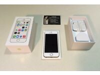 **Registered Trader** iPhone 5S 16gb White/Gold as New Boxed with Warranty