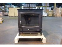USED 21KW BOILER STOVE IN ALMOST NEW CONDITION multi fuel back wood coal turf modern 20kw flue liner
