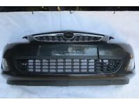 VAUXHALL ASTRA J COMPLETE FRONT BUMPER IN BLACK 2010-2013