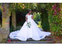 Vintage cathedral train Wedding Dress