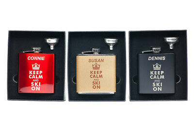 Customized Ski & Snowboard Flask, Gift for Ski, Snowboard, Slopes, - Customized Flasks