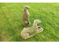 Dog - Whippet Statues - stone full size