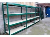 Steel Heavy Duty Strong Metal Shelving Racking Run of 3 Bays