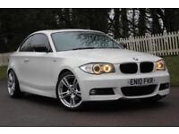 BMW 1 SERIES 2.0 120D M SPORT 2d 175 BHP RAC WARRANTY + BREAKDOWN COVER!! (white) 2010