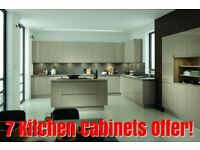 Lucente Handle-less High Gloss 22 mm Thick Modern - 7 Kitchen Cabinets Offer - NEW -