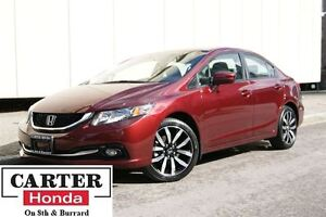2015 Honda Civic Touring + NAVI + LEATHER + CERTIFIED 7 YRS/160,