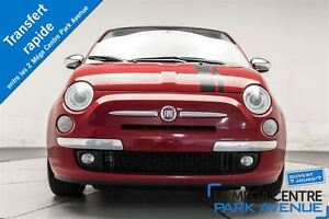 2012 Fiat 500 Lounge * CUIR ROUGE, TOIT, SYSTEME BOSE