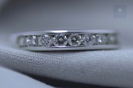 New 18ct WG 0.60ct Diamond Half-Eternity Ring