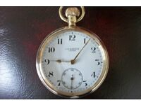 9ct gold pocket watch