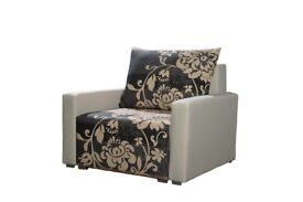 BRAND NEW Comfortable armchair + pillow CHAIR WITH ARMS