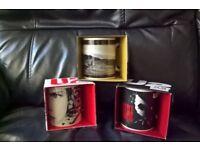 3 New Ceramic U2 Mugs (RRP £17.97)