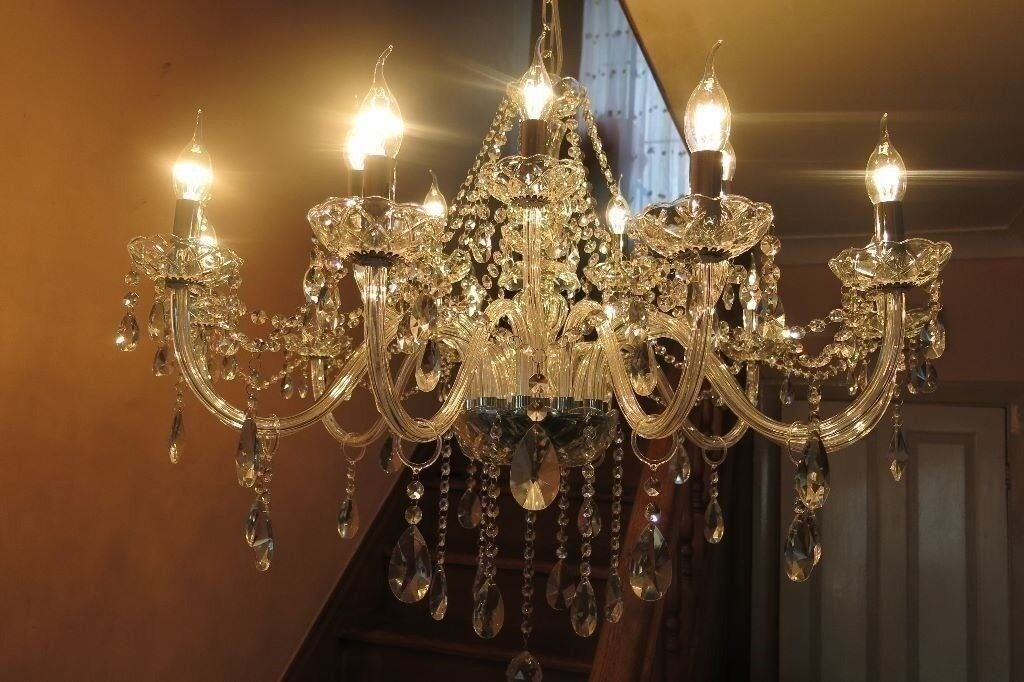 SIMPLY STUNNING 16-BRANCH FRENCH STYLE LEAD CRYSTAL CHANDELIER | in ...