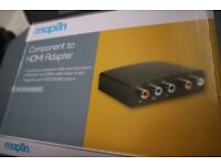 Component to HDMI Adapter - NEW - never used - YPbPr+R/L to HDMI Converter - Maplin N51QK